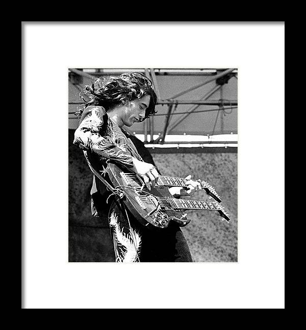 Led Zeppelin Framed Print featuring the photograph Photo Of Jimmy Page And Led Zeppelin by Ed Perlstein