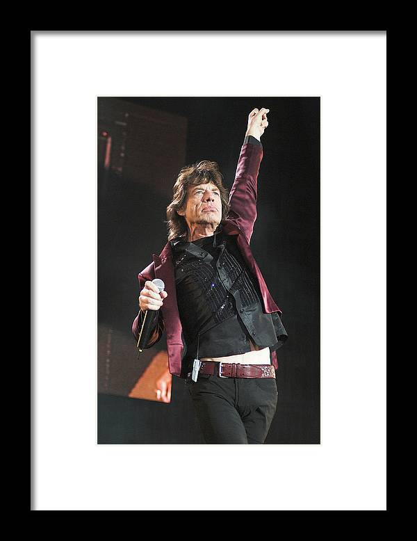 Mick Jagger Framed Print featuring the photograph Photo Of Mick Jagger And Rolling Stones by Neil Lupin