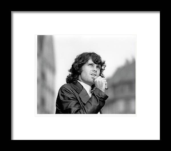Music Framed Print featuring the photograph Photo Of Morrison Jim by Michael Ochs Archives