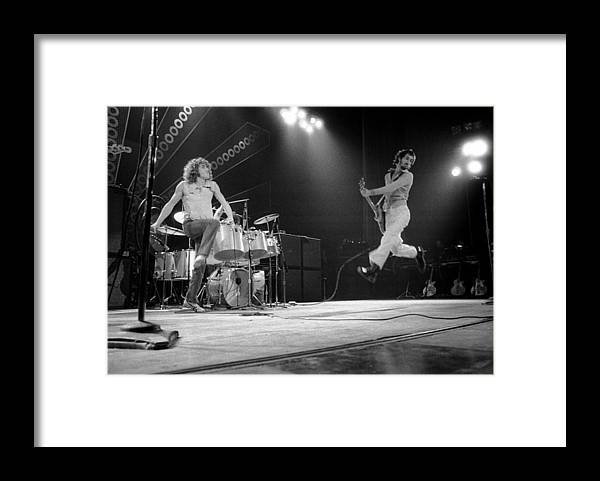 Music Framed Print featuring the photograph Photo Of Pete Townshend And Roger by David Redfern