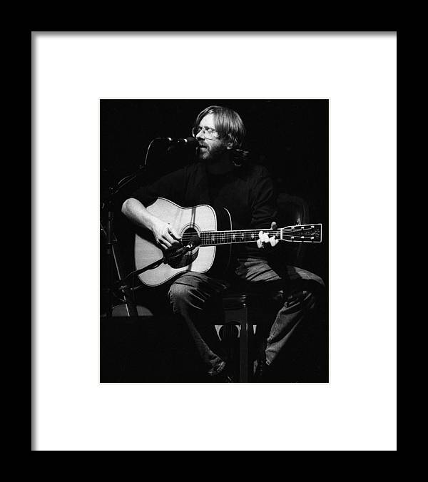 Music Framed Print featuring the photograph Photo Of Phish & Trey Anastasio by Larry Hulst