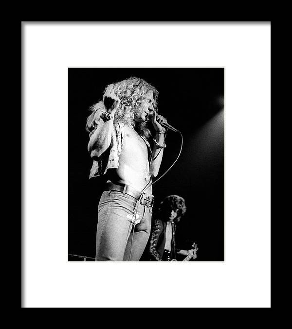 Led Zeppelin Framed Print featuring the photograph Photo Of Robert Plant And Led Zeppelin by David Redfern