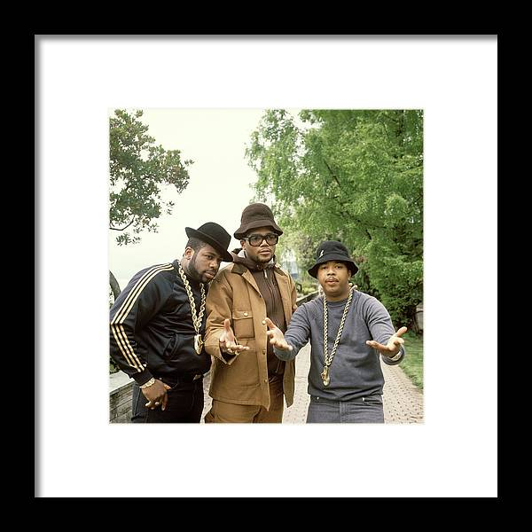 1980-1989 Framed Print featuring the photograph Photo Of Run Dmc by David Redfern