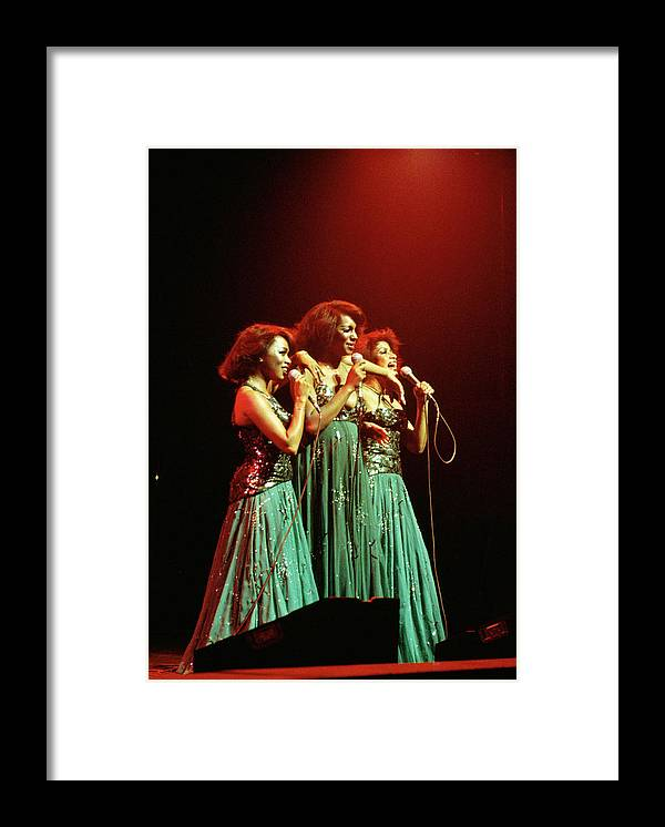 Mary Wilson Framed Print featuring the photograph Photo Of Supremes And Susaye Greene And by Keith Bernstein