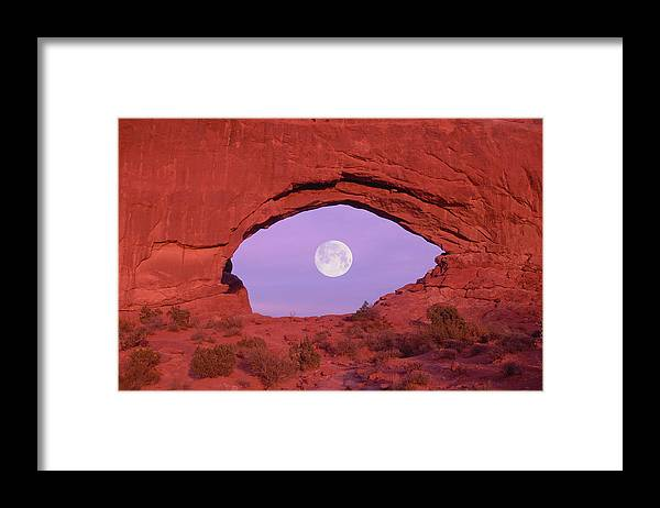 Scenics Framed Print featuring the photograph Photographer At Window At Arches by Grant Faint