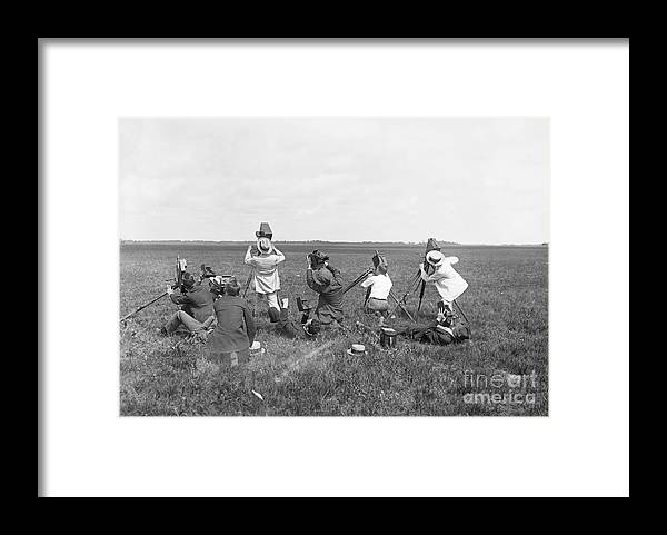 People Framed Print featuring the photograph Photographers On Ground Taking Pictures by Bettmann