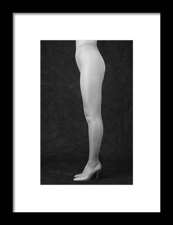 Cool Attitude Framed Print featuring the photograph Photography Of Standing Womans Legs by Daj