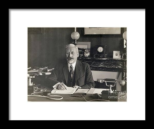 Physicist Framed Print featuring the photograph Physicist Edward Guillaume by Bettmann
