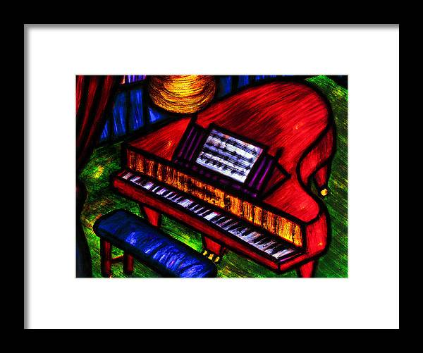 Piano Framed Print featuring the painting Piano by Hugo Heikenwaelder