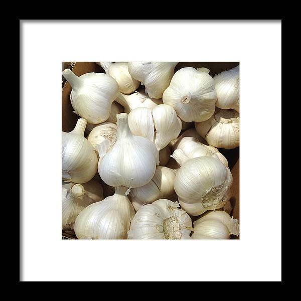 Heap Framed Print featuring the photograph Pile Of Garlic by Digipub