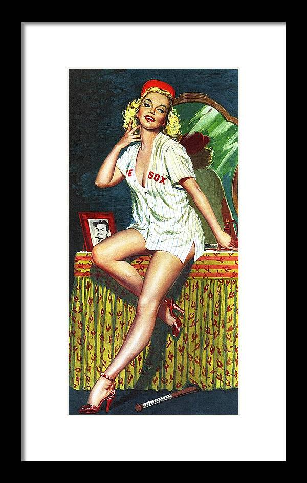 1950-1959 Framed Print featuring the photograph Pin Up by Ed Vebell