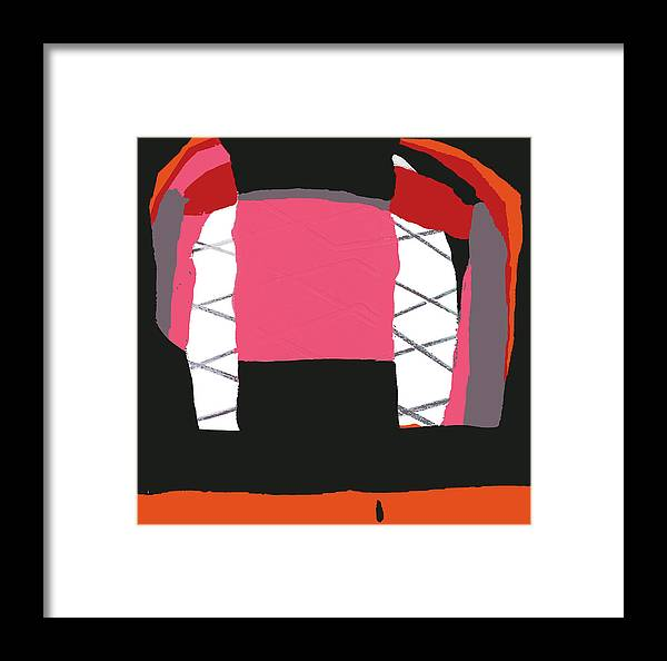 Print Framed Print featuring the painting Pink Orange by Yifat Gat