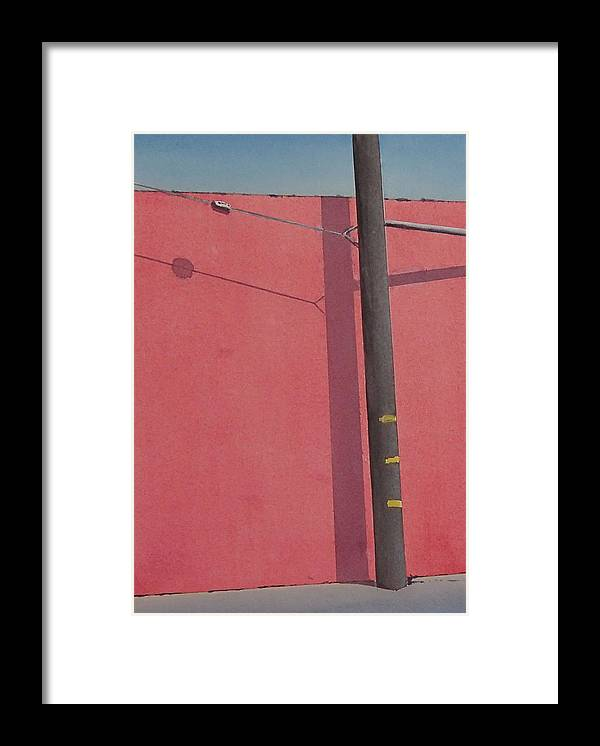 Framed Print featuring the painting Pink wall by Philip Fleischer