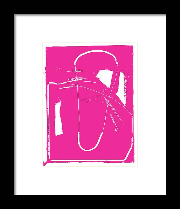 #bringsomethingpink Framed Print featuring the painting Pink by Yifat Gat