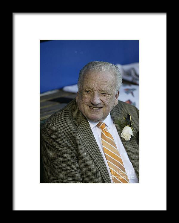 People Framed Print featuring the photograph Pirates Ralph Kiner by George Gojkovich