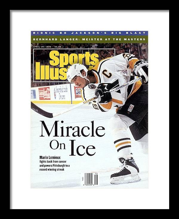 Magazine Cover Framed Print featuring the photograph Pittsburgh Penguins Mario Lemieux... Sports Illustrated Cover by Sports Illustrated