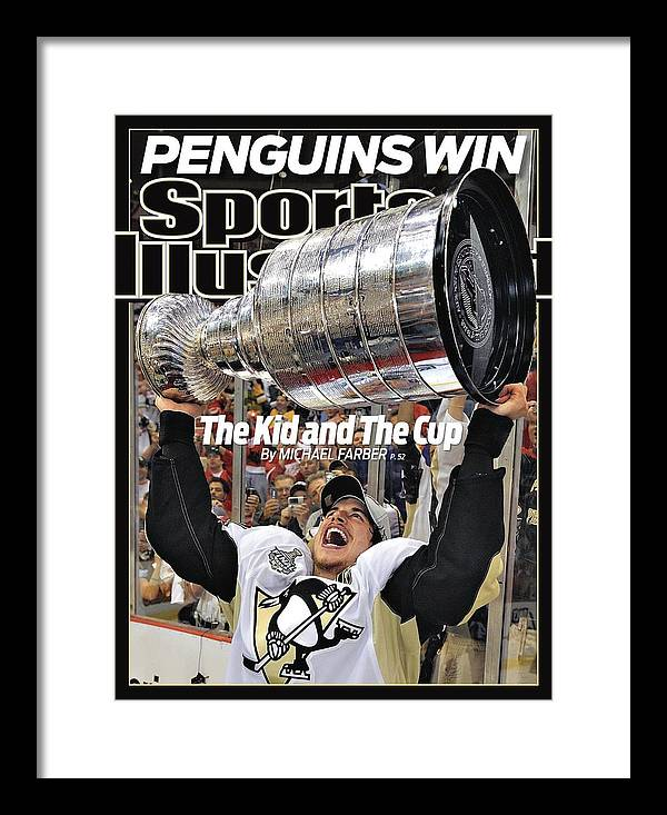 Magazine Cover Framed Print featuring the photograph Pittsburgh Penguins Sidney Crosby, 2009 Nhl Stanley Cup Sports Illustrated Cover by Sports Illustrated