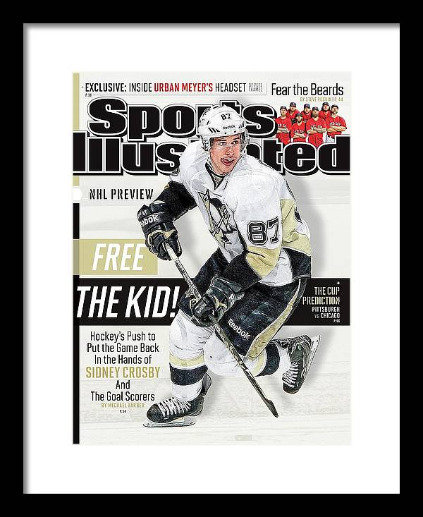 Magazine Cover Framed Print featuring the photograph Pittsburgh Penguins Sidney Crosby, 2013-14 Nhl Hockey Sports Illustrated Cover by Sports Illustrated