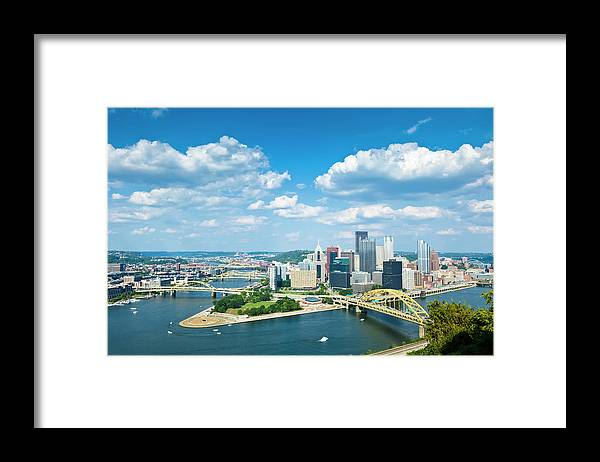 Arch Framed Print featuring the photograph Pittsburgh, Pennsylvania Skyline With by Drnadig