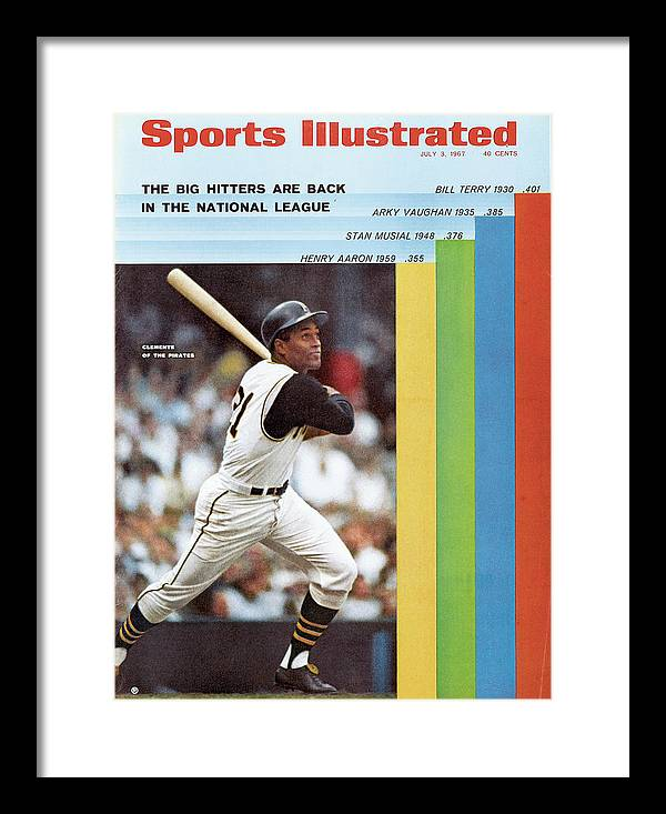 Magazine Cover Framed Print featuring the photograph Pittsburgh Pirates Roberto Clemente... Sports Illustrated Cover by Sports Illustrated