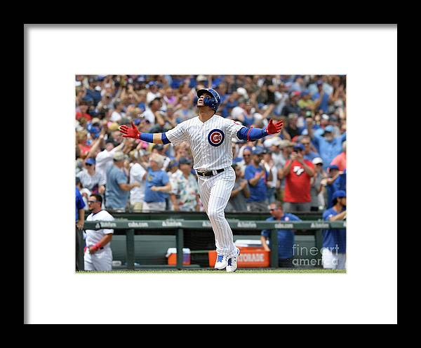 People Framed Print featuring the photograph Pittsburgh Pirates V Chicago Cubs by Quinn Harris