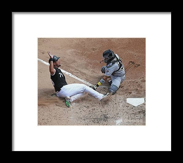 American League Baseball Framed Print featuring the photograph Pittsburgh Pirates V Chicago White Sox by Jonathan Daniel