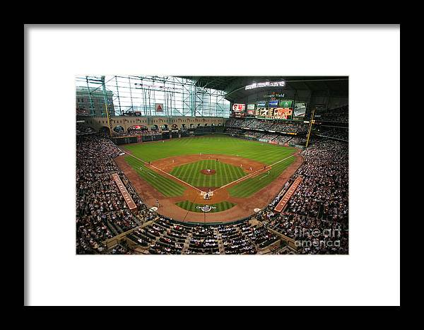Scenics Framed Print featuring the photograph Pittsburgh Pirates V Houston Astros by Stephen Dunn