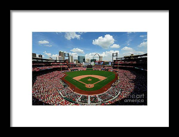 American League Baseball Framed Print featuring the photograph Pittsburgh Pirates V St Louis Cardinals by Jeff Curry