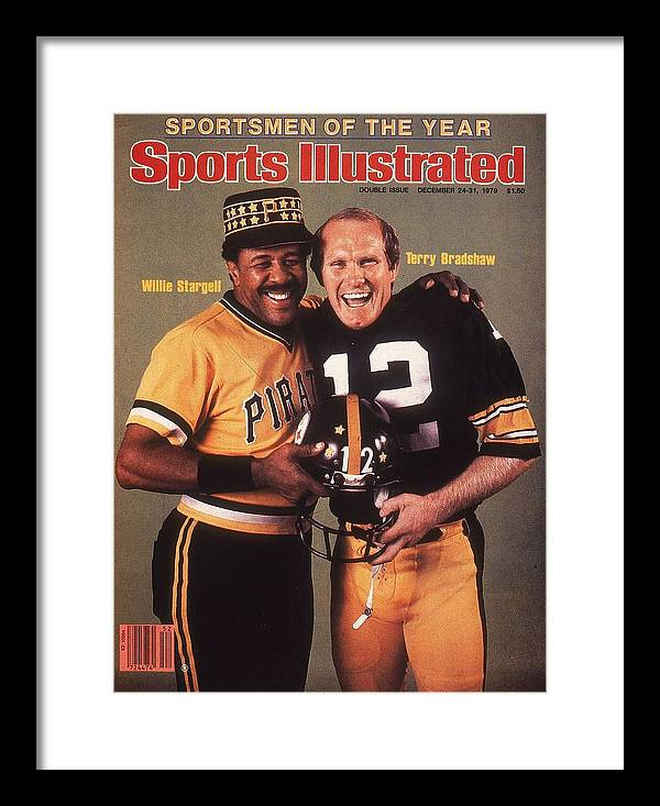 Professional Sport Framed Print featuring the photograph Pittsburgh Pirates Willie Stargell And Pittsburgh Steelers Sports Illustrated Cover by Sports Illustrated