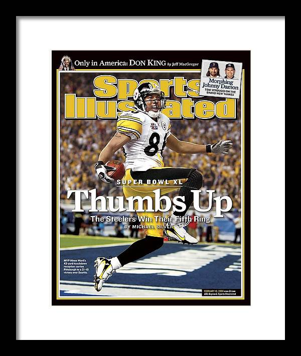 Magazine Cover Framed Print featuring the photograph Pittsburgh Steelers Hines Ward, Super Bowl Xl Sports Illustrated Cover by Sports Illustrated