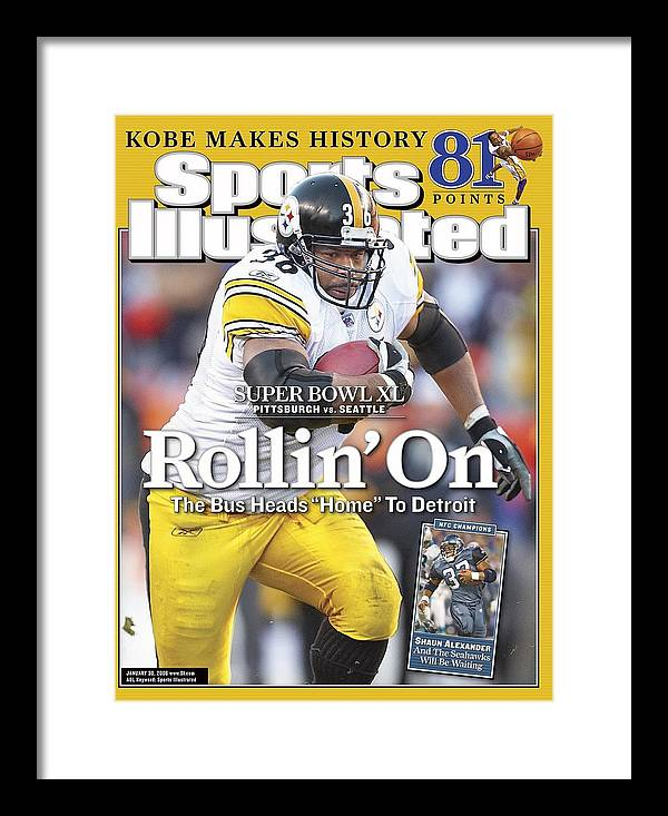 Magazine Cover Framed Print featuring the photograph Pittsburgh Steelers Jerome Bettis, 2006 Afc Championship Sports Illustrated Cover by Sports Illustrated