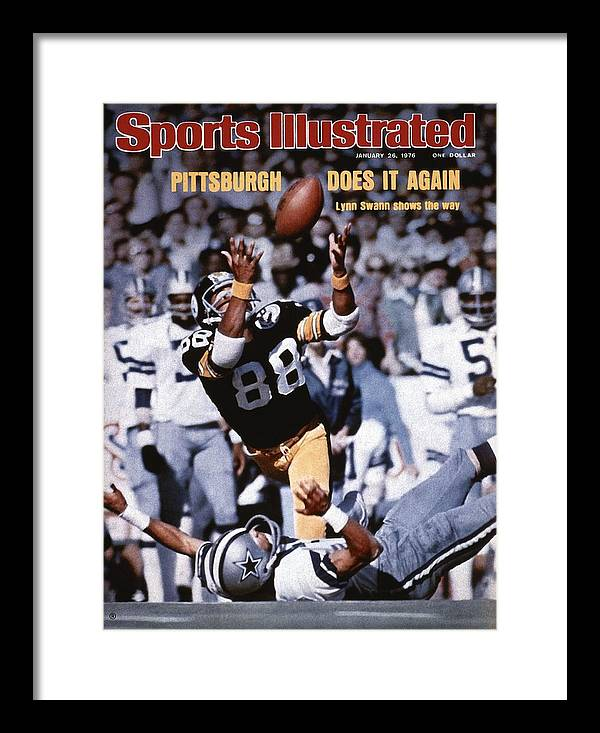 Magazine Cover Framed Print featuring the photograph Pittsburgh Steelers Lynn Swann, Super Bowl X Sports Illustrated Cover by Sports Illustrated