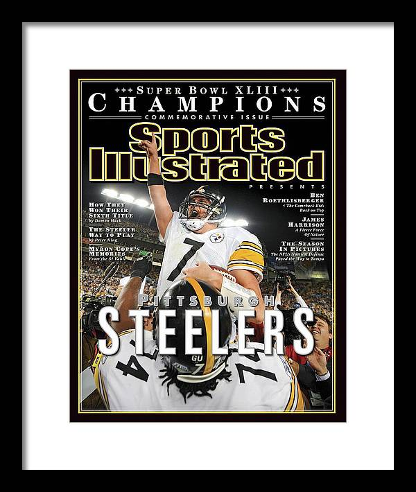 Magazine Cover Framed Print featuring the photograph Pittsburgh Steelers Qb Ben Roethlisberger, Super Bowl Xliii Sports Illustrated Cover by Sports Illustrated