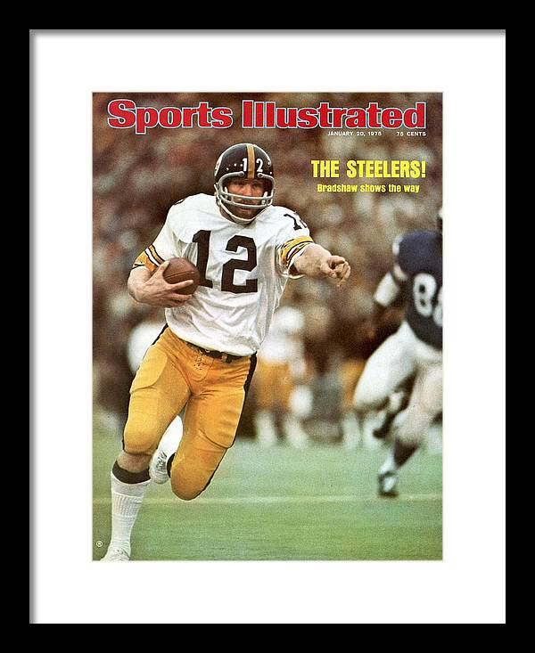 Sports Illustrated Framed Print featuring the photograph Pittsburgh Steelers Qb Terry Bradshaw, Super Bowl Ix Sports Illustrated Cover by Sports Illustrated