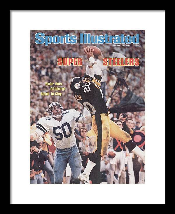 Super Bowl Xiii Framed Print featuring the photograph Pittsburgh Steelers Rocky Bleier, Super Bowl Xiii Sports Illustrated Cover by Sports Illustrated