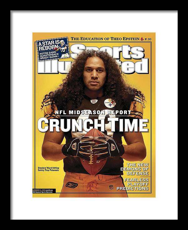 Sports Illustrated Framed Print featuring the photograph Pittsburgh Steelers Troy Polamalu Sports Illustrated Cover by Sports Illustrated