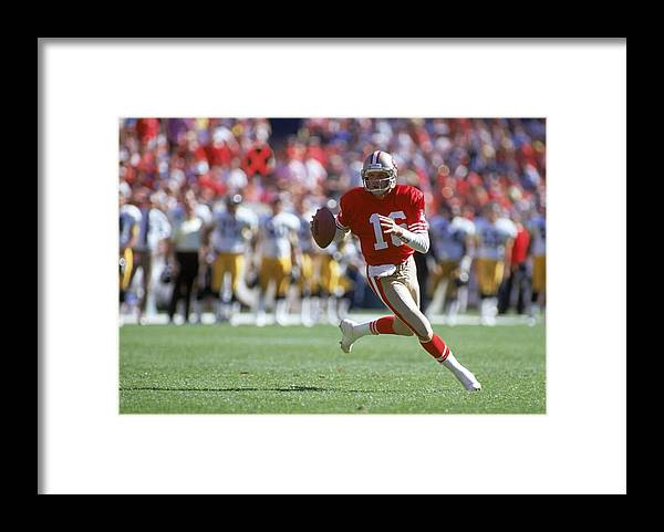 Candlestick Park Framed Print featuring the photograph Pittsburgh Steelers V San Francisco by George Rose