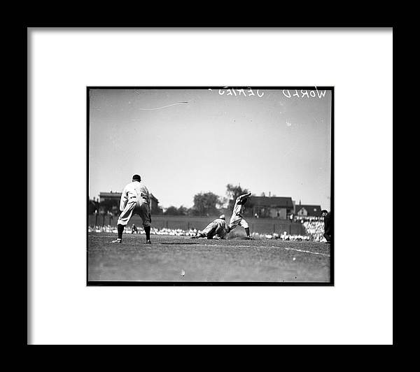 People Framed Print featuring the photograph Play During The 1929 World Series by Chicago History Museum