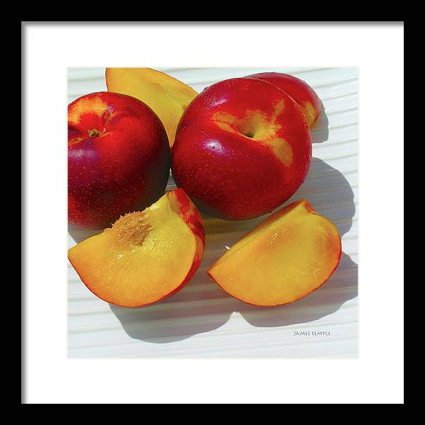 Plums Framed Print featuring the photograph Plums In Hawaii by James Temple