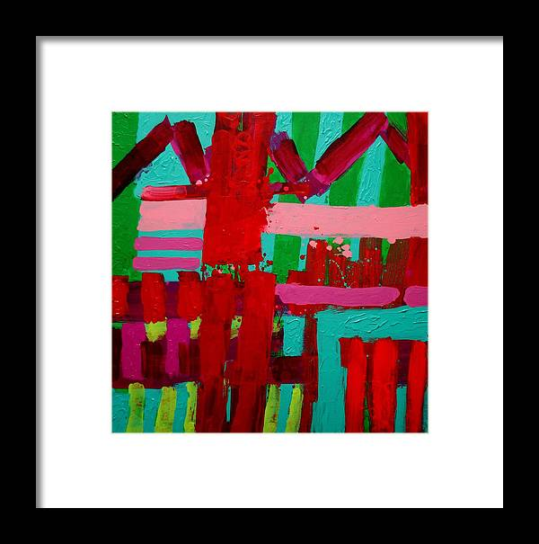 Stract Framed Print featuring the painting Poetry In Motion by John Nolan