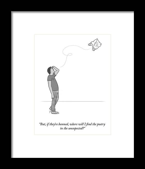 But Framed Print featuring the drawing Poetry In The Unexpected by Lila Ash