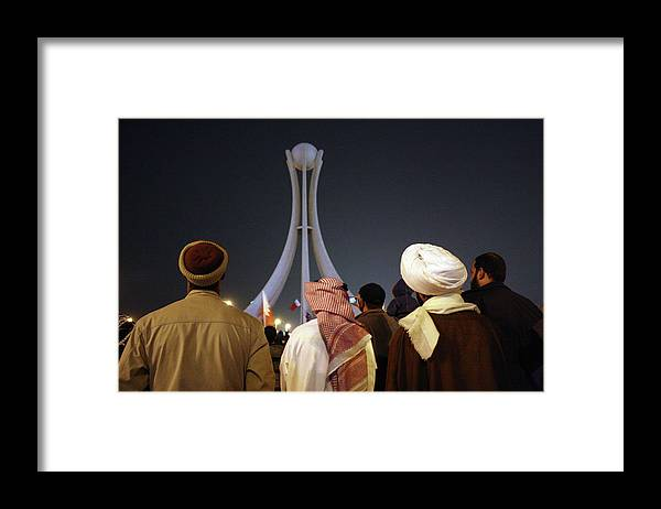 Democracy Framed Print featuring the photograph Police Clear Anti-government Protesters by John Moore