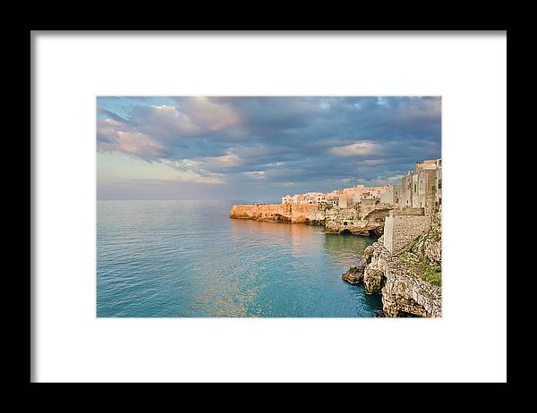 Adriatic Sea Framed Print featuring the photograph Polignano A Mare On The Adriatic Sea by David Madison