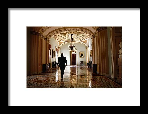 Chairperson Framed Print featuring the photograph Political Battle For Health Care Reform by John Moore