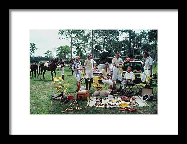 Horse Framed Print featuring the photograph Polo Party by Slim Aarons