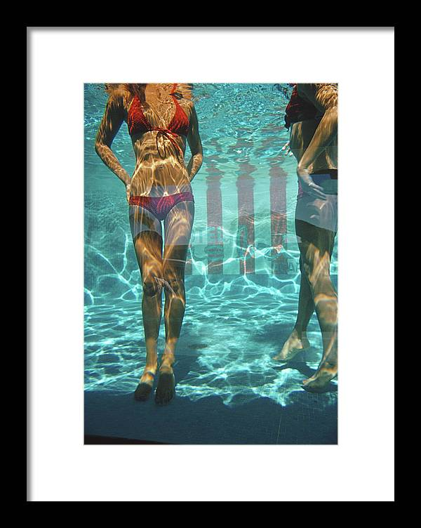 Underwater Framed Print featuring the photograph Pool At Las Brisas by Slim Aarons