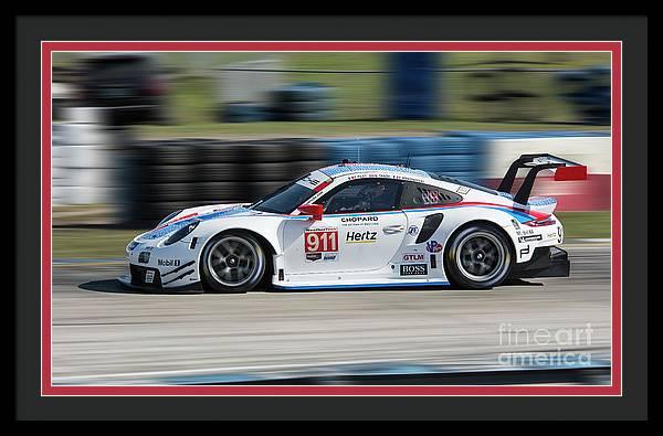 Porsche 911 RSR GTLM Team Porsche at Sebring 2019 by Tad Gage