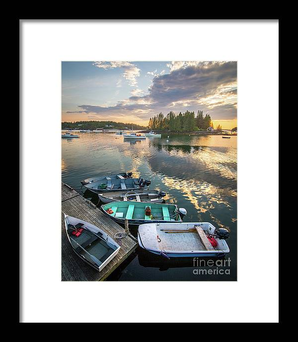 Boating Framed Print featuring the photograph Port Clyde Reflections by Benjamin Williamson