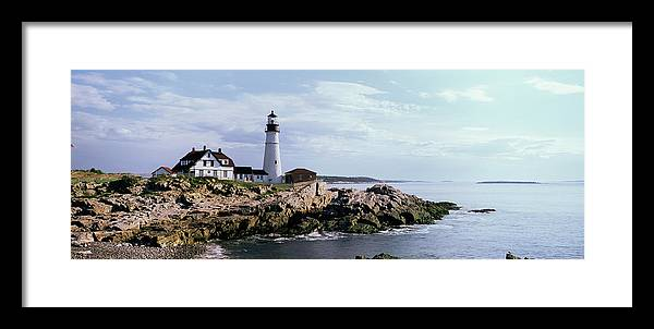 Extreme Terrain Framed Print featuring the photograph Portland Head Lighthouse, Cape by Tony Sweet
