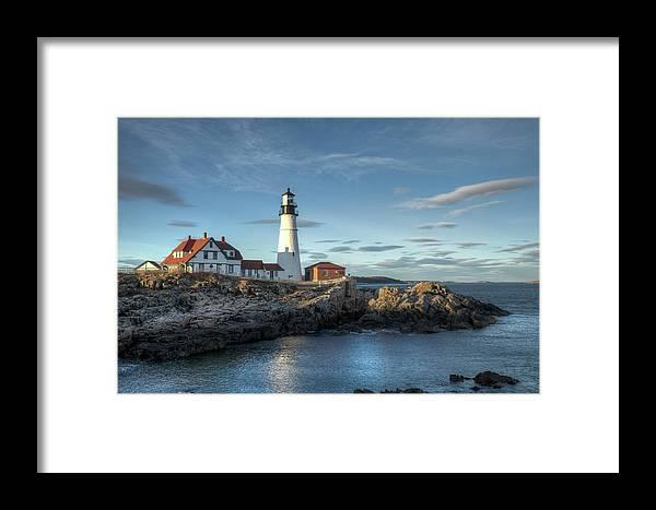 Outdoors Framed Print featuring the photograph Portland Head Lighthouse by Kenneth C. Zirkel